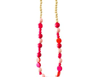 Sacha Necklace (Pinks and Reds)