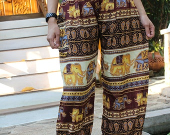 Harem pants elephant pants hippie pants hobo pants limited Brown