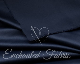 Prom and Wedding Bridesmaid Dress Navy Blue Bridal Satin Fabric for Bridesmaids Dresses, Party Decoration Fabric, Prom Dresses  - 1101 NAVY