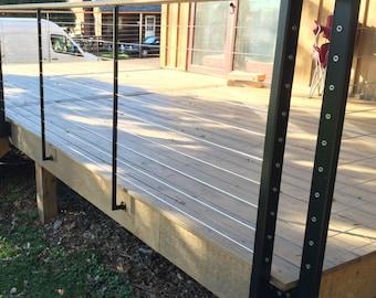 cable rail deck posts