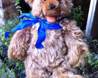 Steiff Zotty bear, Vintage teddy bear, Steiff teddy bear, German teddy bear, Grey teddy bear, Open mouth bear, Gift for her, Collector bear