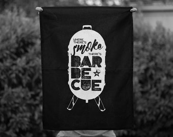 Where There's Smoke There's Barbecue Tea Towel
