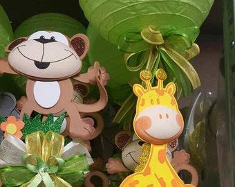 safari Centerpiece, safari party, animal print baby shower centerpieces, baby animal centerpieces