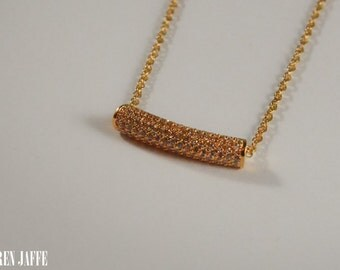 Micro Pave Bar Necklace