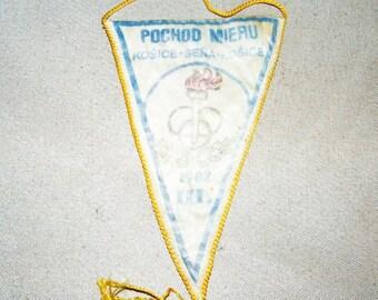 Vintage Pennant Kosice-Sena-Koshice 1982 CSSR SZM Old Pennant Pochod Mieru
