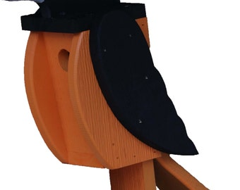 Amish Made Bird House - Oriole shaped House - Free Shipping