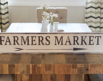 Farmers Market Sign, Kitchen Sign, Wooden Farmers Market Sign