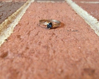 Genuine Sapphire  10k Gold Ring