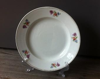 Vintage Shabby, Flower Decor Platter, ZIK Konakovo Porcelain Factory, Soviet Porcelain