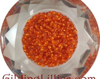 """6"""" Toho 8/0 Round #30BF Hyacinth Silver Lined Matte Beads"""