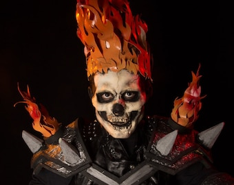 Ghost rider flame Headpiece