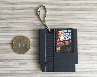 NES cartridge keychain (Super Mario, Duck Hunt, Metroid, Zelda)