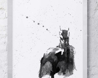 Batman DC Comics Abstract Watercolor