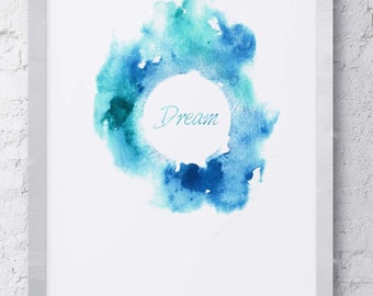 Abstract Watercolor Dream Print