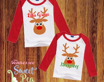 Custom Children's Christmas Raglans, Toddler Clothing, Personalized Holiday Clothing, Raglans for Kids, Christmas Parties, Holiday Pics