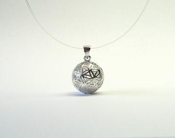 Flower of life pendant ball Silver 925