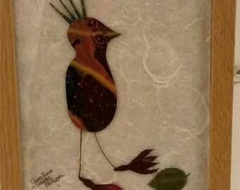 Bird on a leaf
