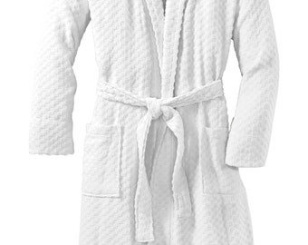 Monogrammed Cotton Robe Men Personalized with Name or Initials- Groomsman Gift- Spa Robe Adult Robe