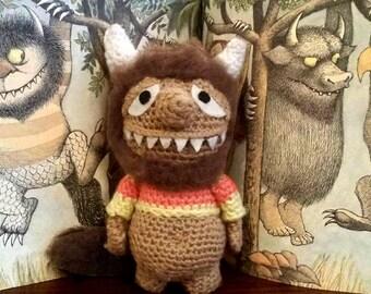 Where the Wild Things are Amigurumi, Handmade Crochet Unnamed Monster Amigurumi