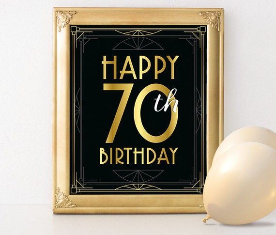Birthday Sign Printable Happy 70th Birthday Sign 70th