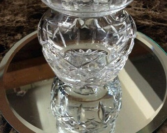 Small Vintage Cut Glass Vase - 3 Inches Tall