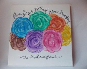 The Devil Wears Prada Quote Canvas