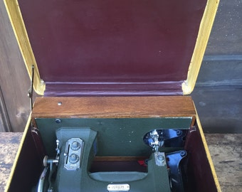 Antique Electric Sewing Machine with Case