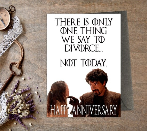 Game Of Thrones Anniversary Card Printable Husband Wife