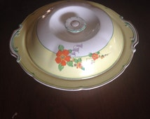 Vintage Yellow Vegetabl/Casserole Dish with Lid