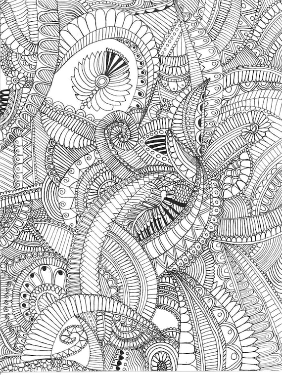 Adult Coloring Page By Doodle4ever On Etsy