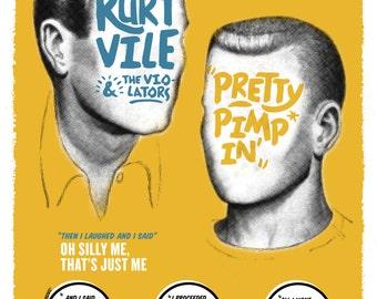 Kurt Vile Screenprint Gig Poster