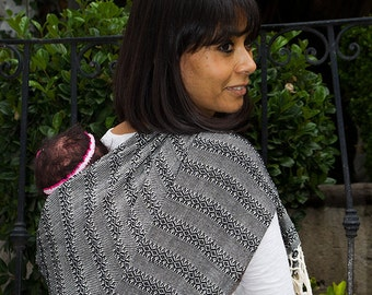 Baby carrier wrap multipurpose mexican Rebozo  w/ user's guide