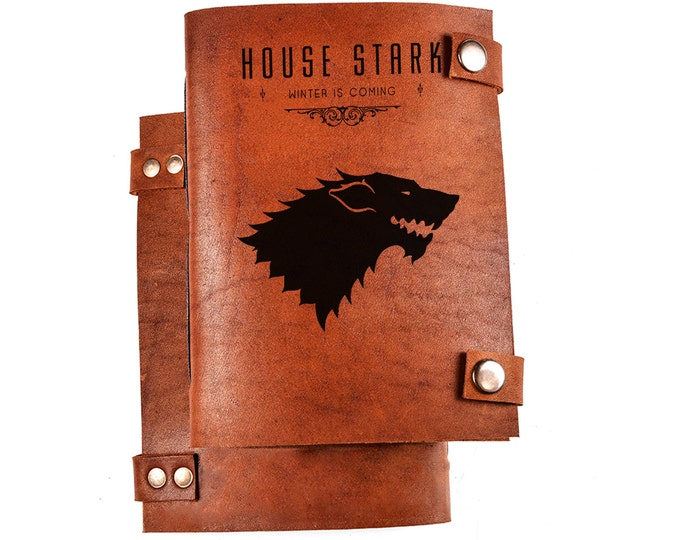 Game of thrones notebook - Stark house notebook - Stark house logo - Stark logo -Game of thrones journal - Stark house journal