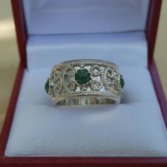 Italian Bands: Italian Renaissance Wedding Band Sterling Silver With Genuine