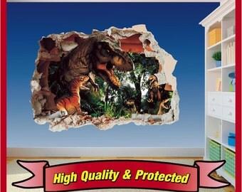 Dinosaur Wall Decal Etsy - Jurassic world wall decals