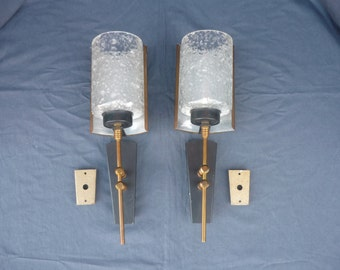French vintage wall sconces 1950's