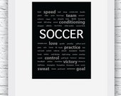 Soccer Words Wall Art Pri...