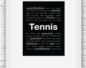 Tennis Words Wall Art Pri...
