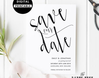 Save the Date Invitation , Save the Date Invite , Wedding Invite , Printable Invitation , 5x7 , A6 , Save our Date