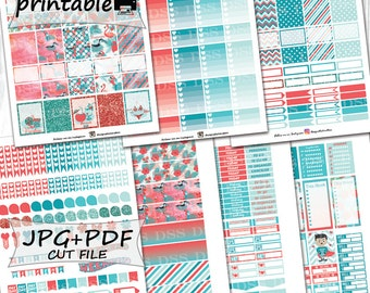 40% OFF SALE/June Monthly Planner Stickers/Printable Planner Stickers for Erin Condren Lifeplanners/Planner Stickers Printable/June Stickers