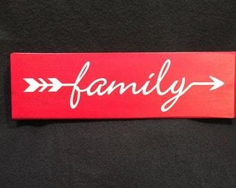 Family arrow sign