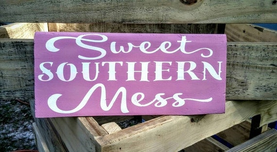 Cottage Signs Decor Cottage 24X18 Southern SWEET TEA Vintage  |Southern Girl Signs