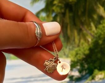 Clover Necklace - Shamrock Necklace - Sterling Silver Clover Necklace - Dainty Four Leaf Clover Pendant - Lucky Clover Necklace