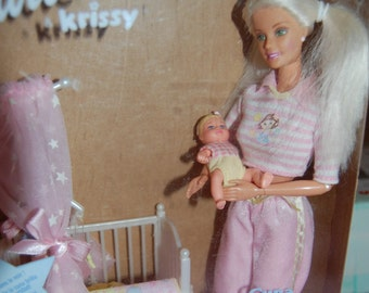 Barbie  and krissy bedtime