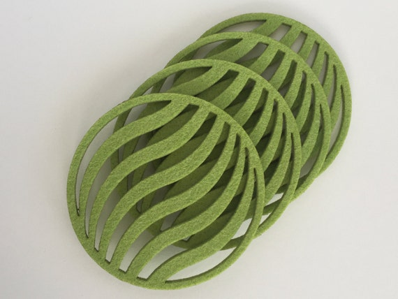 Glass Coasters Drink Coasters Cool Coasters Waves
