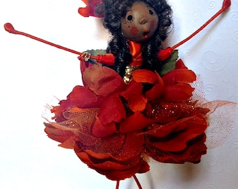 Flower Fairy, Fairy Doll, Fairy Ornament, Flower Ornament
