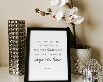 """Sky's The Limit - Biggie Smalls Motivational Quote Foil Print, 8""""x10"""""""