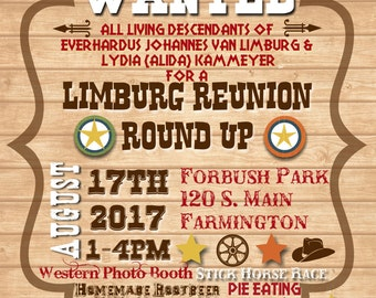 Western Family Reunion Invite