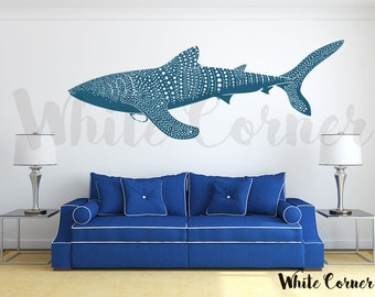 Rta651 Fish Deep Sea Whale Shark Mural Pattern Kids Room Nursery Gift Kids  Chirdren Wall Decal Part 96