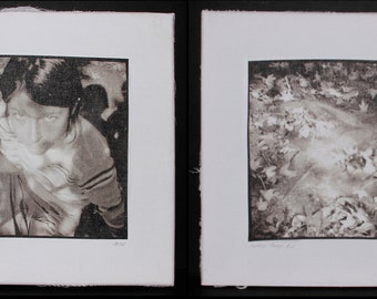 """Diptych """"Forrest Fairy"""", a part of the """"First Memory"""" collection"""